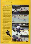 Scan of the preview of NHL Breakaway 98 published in the magazine N64 Gamer 02, page 1