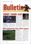 Scan of the preview of Catroots published in the magazine N64 Gamer 30, page 1
