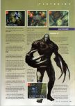 Scan of the walkthrough of Resident Evil 2 published in the magazine N64 Gamer 28