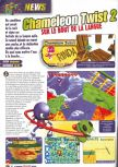 Scan of the preview of Chameleon Twist 2 published in the magazine Le Magazine Officiel Nintendo 13