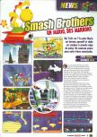Scan of the preview of Super Smash Bros. published in the magazine Le Magazine Officiel Nintendo 13