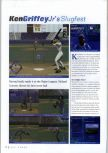 Scan of the review of Ken Griffey Jr.'s Slugfest published in the magazine N64 Gamer 17, page 1