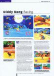 Scan of the review of Diddy Kong Racing published in the magazine Edge 53, page 1
