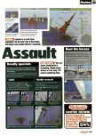 Scan of the review of Aero Fighters Assault published in the magazine Nintendo Official Magazine 70