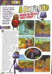 Scan of the preview of A Bug's Life published in the magazine Le Magazine Officiel Nintendo 14