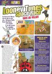 Scan of the preview of Looney Tunes: Space Race published in the magazine Le Magazine Officiel Nintendo 14