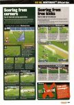 Scan of the walkthrough of International Superstar Soccer 98 published in the magazine Nintendo Official Magazine 73, page 4