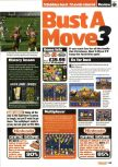 Scan of the review of Bust-A-Move 3 DX published in the magazine Nintendo Official Magazine 75