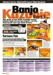 Scan of the walkthrough of Banjo-Kazooie published in the magazine Nintendo Official Magazine 75