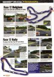 Scan of the walkthrough of F-1 World Grand Prix published in the magazine Nintendo Official Magazine 75