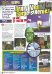 Scan of the preview of Army Men: Sarge's Heroes published in the magazine Le Magazine Officiel Nintendo 15