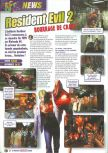 Scan of the preview of Resident Evil 2 published in the magazine Le Magazine Officiel Nintendo 15