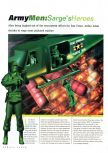 Scan of the review of Army Men: Sarge's Heroes published in the magazine N64 Gamer 22, page 1