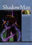 Scan of the walkthrough of Shadow Man published in the magazine N64 Gamer 22, page 1
