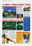 Scan of the preview of Rally Challenge 2000 published in the magazine N64 Gamer 23, page 1