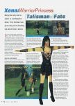 Scan of the review of Xena: Warrior Princess: The Talisman of Fate published in the magazine N64 Gamer 23, page 1