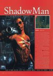 Scan of the walkthrough of Shadow Man published in the magazine N64 Gamer 23, page 1