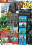 Scan of the review of Rampage 2: Universal Tour published in the magazine Le Magazine Officiel Nintendo 17