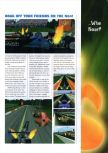 Scan of the preview of NHRA Drag Racing published in the magazine N64 Gamer 10, page 1