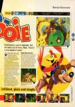 Scan of the review of Banjo-Kazooie published in the magazine 64 Magazine 16