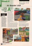 Scan of the preview of Airboarder 64 published in the magazine Electronic Gaming Monthly 116