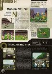 Scan of the preview of F-1 World Grand Prix published in the magazine Electronic Gaming Monthly 107
