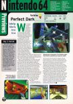 Scan of the preview of Perfect Dark published in the magazine Electronic Gaming Monthly 109