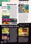 Scan of the preview of Extreme-G 2 published in the magazine Electronic Gaming Monthly 109, page 1