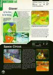 Scan of the preview of Glover published in the magazine Electronic Gaming Monthly 109