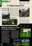 Scan of the preview of F-1 World Grand Prix published in the magazine Electronic Gaming Monthly 110, page 1