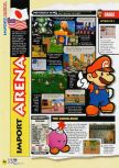 Scan of the review of Paper Mario published in the magazine N64 53, page 1