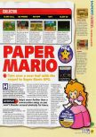 Scan of the review of Paper Mario published in the magazine N64 53, page 2