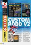 Scan of the review of Custom Robo V2 published in the magazine N64 54, page 1