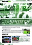 Scan of the review of NASCAR '99 published in the magazine Gamers Republic 05, page 1