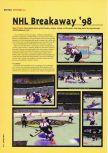 Scan of the review of NHL Breakaway 98 published in the magazine Hyper 54, page 1