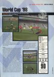 Scan of the review of World Cup 98 published in the magazine Hyper 57