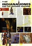 Scan of the preview of Indiana Jones and the Infernal Machine published in the magazine Hyper 74