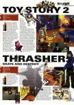 Scan of the preview of Toy Story 2 published in the magazine Hyper 74