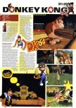 Scan of the preview of Donkey Kong 64 published in the magazine Hyper 74