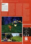 Scan of the review of Donkey Kong 64 published in the magazine Hyper 75