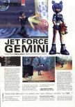 Scan of the review of Jet Force Gemini published in the magazine Hyper 75