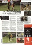 Scan of the review of Xena: Warrior Princess: The Talisman of Fate published in the magazine Hyper 76