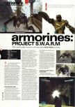 Scan of the review of Armorines: Project S.W.A.R.M. published in the magazine Hyper 78