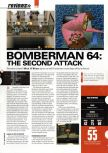 Scan of the review of Bomberman 64: The Second Attack published in the magazine Hyper 83, page 1