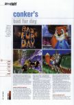 Scan of the preview of Conker's Bad Fur Day published in the magazine Hyper 85