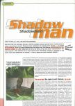 Scan of the preview of Shadow Man published in the magazine Playmag 36