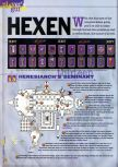 Scan of the walkthrough of Hexen published in the magazine 64 Extreme 7, page 1