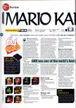 Scan of the review of Mario Kart 64 published in the magazine 64 Magazine 01