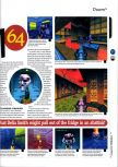 Scan of the review of Doom 64 published in the magazine 64 Magazine 01