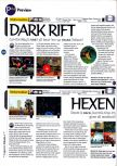 Scan of the preview of Dark Rift published in the magazine 64 Magazine 01